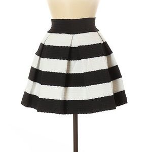 NWOT Touch Me Striped Stretchy Circle Skater Skirt